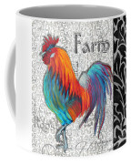 Decorative Rooster Chicken Decorative Art Original Painting King Of The Roost By Megan Duncanson Coffee Mug