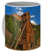 Deep Blue Over Historic Silver And Gold Coffee Mug