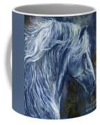 Deep Blue Wild Horse Coffee Mug