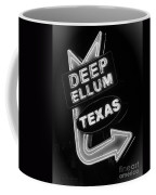 Deep Ellum Black And White Coffee Mug