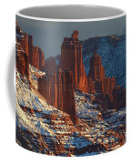Deep Red In A Sea Of White Coffee Mug