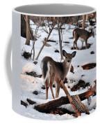 Deer And Snow Coffee Mug