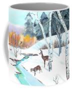 Deer Creek In Winter Coffee Mug