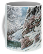 Deer In A Snowy Landscape Coffee Mug