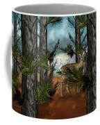 Deer In Pine Forest Coffee Mug