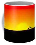 Deer In Silhouette Coffee Mug