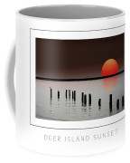 Deer Island Sunset Poster Coffee Mug