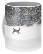 Deer Running Coffee Mug