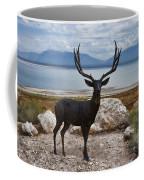 Deer Statute On Antelope Island  Coffee Mug