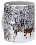 Deers In Winter Coffee Mug