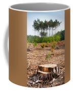Woods Logging One Stump After Deforestation  Coffee Mug