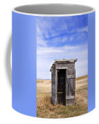 Defunct Outhouse At Rural Elementary School Coffee Mug