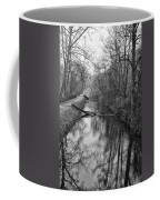 Delaware Canal In Black And White Coffee Mug
