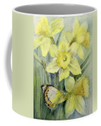 Delias Mysis Union Jack Butterfly On Daffodils Coffee Mug