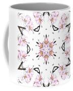Delicate Cherry Blossom Fractal Kaleidoscope Coffee Mug
