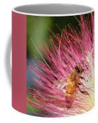 Delicate Embrace - Bee And Mimosa Coffee Mug