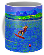 Delta Blue Wind Sailing Coffee Mug by Joseph Coulombe