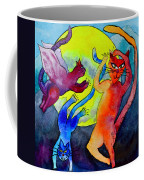 Demon Cats Dance By The Light Of The Moon Coffee Mug by Beverley Harper Tinsley