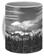 Denali In Clouds Coffee Mug