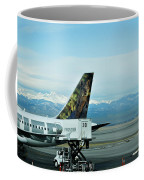 Denver Airport With Rockies In Background Coffee Mug