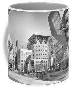 Denver Art Museum Courtyard Bw Coffee Mug
