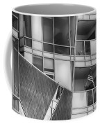 Denver Diagonal Lines Bw Coffee Mug