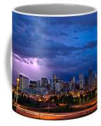 Denver Skyline Coffee Mug by John K Sampson