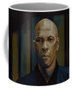 Denzel Washington In The Equalizer Painting Coffee Mug