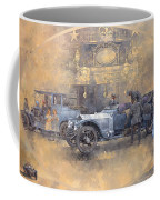 Departure For Christmas Oil On Canvas Coffee Mug