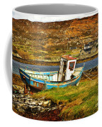 Derelict Fishing Boat On The Irish Coast Coffee Mug