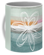 Desert Flower- Contemporary Abstract Flower Painting Coffee Mug by Linda Woods