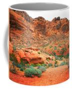 Desert Hiking Among The Sandstones Coffee Mug