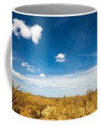 Desert Landscape With Deep Blue Sky Coffee Mug