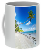 Deserted Beach And Palm Trees Coffee Mug