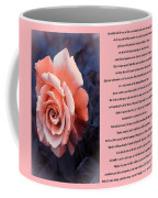Desiderata Coral Rose Sidebyside Coffee Mug