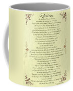 Desiderata Gold Bond Scrolled Coffee Mug by Movie Poster Prints