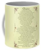 Desiderata Gold Bond Scrolled Coffee Mug