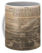 Desiderata Military Coffee Mug