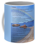 Desiderata On Beach Scene With Rainbow Coffee Mug
