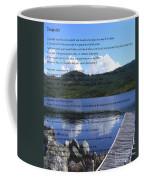 Desiderata On Pond Scene With Mountains Coffee Mug