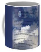 Desiderata On Sky Scene With Full Moon And Clouds Coffee Mug