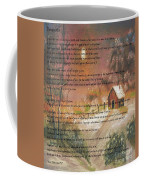 Desiderata On Snow Scene With Cabin Coffee Mug