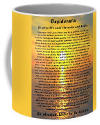 Desiderata Pismo Beach Golden Sunset Coffee Mug