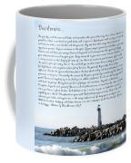 Desiderata Santa Cruz Lighthouse Coffee Mug