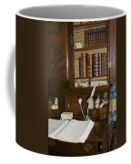 Desk With Quill Pens Coffee Mug