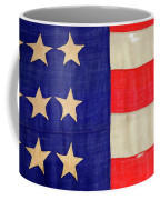 Detail Of A Civil War Flag In Drummer Coffee Mug