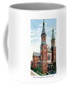 Detroit - St Mary Catholic Church - Monroe Avenue - 1910 Coffee Mug
