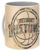 Detroit Pistons Poster Art Coffee Mug