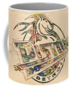 Detroit Pistons Retro Poster Coffee Mug