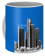 Detroit Skyline 1 - Blue Coffee Mug